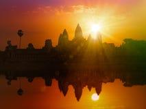 Angkor Wat στο ηλιοβασίλεμα Στοκ φωτογραφίες με δικαίωμα ελεύθερης χρήσης
