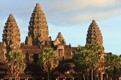 Angkor Wat στο σαφή ουρανό στα ξημερώματα, Καμπότζη Στοκ φωτογραφία με δικαίωμα ελεύθερης χρήσης