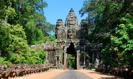 Angkor Wat στο φως ήλιων πρωινού Στοκ φωτογραφίες με δικαίωμα ελεύθερης χρήσης
