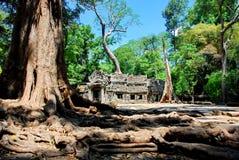 Angkor Wat στο φως ήλιων πρωινού Στοκ Φωτογραφίες