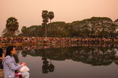 Angkor Wat σύνθετο Στοκ εικόνα με δικαίωμα ελεύθερης χρήσης