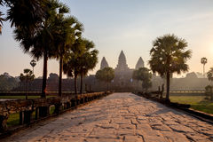 Angkor wat το πρωί Στοκ Φωτογραφίες