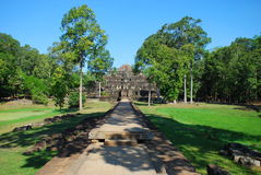 Angkor Wat το φως ήλιων πρωινού Στοκ Εικόνες