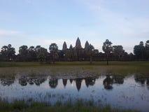 Angkor Wat в вечере Стоковое Фото