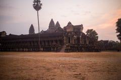 Angkor Wat в рано утром Стоковое Фото