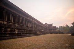 Angkor Wat в рано утром Стоковые Фото