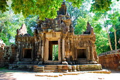 Angkor Wat в свете солнца утра Стоковое Изображение