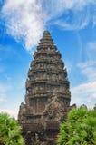 Angkor Wat - гигантский комплекс индусского виска в Камбодже Стоковые Изображения RF