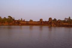 Angkor wat. Sunset view angkor wat cambodia siem reap Royalty Free Stock Images