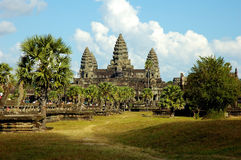 Angkor Wat. In Cambodia taken from the entrance into the main court yard Royalty Free Stock Images