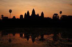 Angkor Wat. Temple dawn cambodia Royalty Free Stock Photo