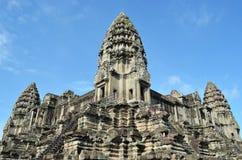 Angkor wat. Wall in cambodia siem reap royalty free stock photography