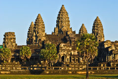 Angkor Wat. At sunset, Cambodia Royalty Free Stock Photo