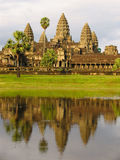 Angkor Wat. Reflection of Angkor Wat temple in the water. Cambodia royalty free stock photography