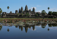 Angkor Wat. The most famous Khmer temple, near Siem Reap, Cambodia royalty free stock photography