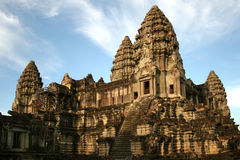Angkor Wat. Is a temple complex at Angkor, Cambodia, built for the king Suryavarman II in the early 12th century as his state temple and capital city stock photo