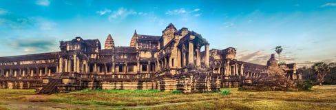 Angkor Wat ad alba La Cambogia cambodia Panorama fotografia stock libera da diritti