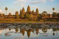 Angkor Wat al tramonto, Cambogia. Fotografia Stock Libera da Diritti
