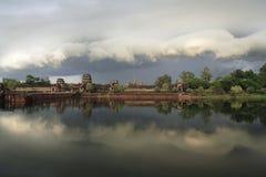 Angkor Wat alla vista di momento del Eve, siem Riep, Cambogia Immagine Stock Libera da Diritti