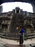 Angkor Wat, ancient lanmark, Siem Reap, Cambodia. Royalty Free Stock Images
