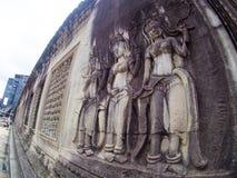 Angkor Wat, ancient lanmark, Siem Reap, Cambodia. Stock Photos