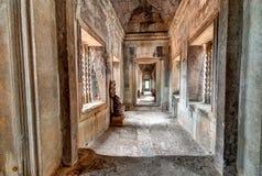 Angkor Wat Ancient Temple Interior Fotografie Stock