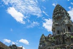 Angkor Wat angkor banteay Cambodia jeziorni lotuses przeprowadzać żniwa siem srey świątynię Kambodża Zdjęcie Stock