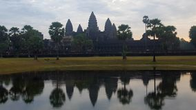 Angkor Wat. Ankgor wat with it& x27;s reflection in water Royalty Free Stock Images
