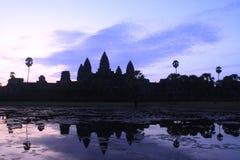 Angkor Wat antes del amanecer Imagenes de archivo