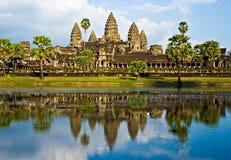 Angkor Wat antes do por do sol, Cambodia. Fotografia de Stock