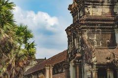 Angkor Wat antigo em Siem Reap, Camboja Foto de Stock