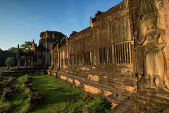 Angkor Wat - Archeological park temple. Monument of Cambodia. Architecture of old buddhist Angkor Wat - Archeological park temple. Monument of Cambodia - Siem Stock Photo