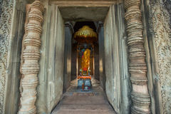 Angkor Wat - Archeological park temple. Monument of Cambodia. Architecture of old buddhist Angkor Wat - Archeological park temple. Monument of Cambodia - Siem Stock Image