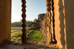 Angkor Wat - Archeological park temple. Monument of Cambodia. Architecture of old buddhist Angkor Wat - Archeological park temple. Monument of Cambodia - Siem Stock Photography