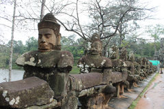 Angkor Wat architecture detail Stock Photography