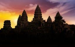 Angkor wat backlit Stock Photography