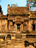 Angkor Wat - Banteay Srei Temple architecture. Bass relief tantric carvings on Banteay Srei Temple Royalty Free Stock Images