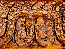 Angkor Wat - Banteay Srei Temple. Bass relief tantric carvings on Banteay Srei Temple Stock Photos