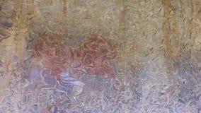 Angkor Wat bas relief stock footage