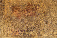 Angkor Wat - Bas Relief Royalty Free Stock Photos