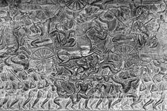 Angkor Wat bas-reliefs Stock Photos