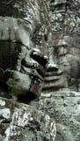 Angkor Wat Bayon δύο πρόσωπα Στοκ φωτογραφία με δικαίωμα ελεύθερης χρήσης