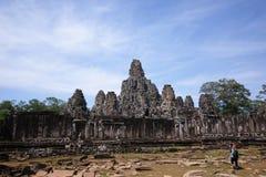 Angkor wat, Bayon temple, Cambodia. Landscape view of Bayon temple, Angkor wat  with a photographer Stock Image