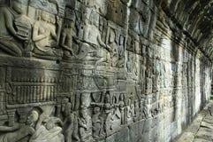 Angkor Wat Bayon Wall des histoires Images stock