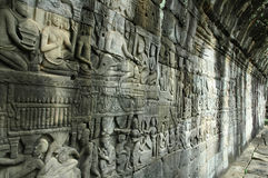 Angkor Wat - Bayon - Wall of Stories Stock Images