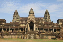 Angkor Wat from Behind Stock Photo