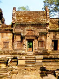 Angkor Wat - belle sculture, bassorilievi del tempio di Banteay Srei Fotografia Stock