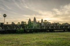 Angkor Wat bij dageraad Royalty-vrije Stock Fotografie