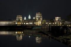 Angkor Wat bij Nacht Stock Afbeelding