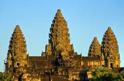 Angkor Wat bij zonsondergang, Kambodja. Stock Fotografie